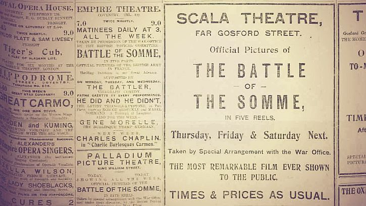 newspaper-advert-for-a-screening-of-the-battle-of-the-somme