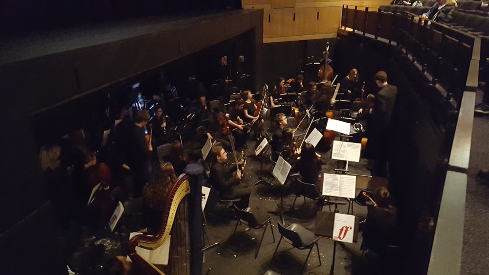 The orchestra in the pit