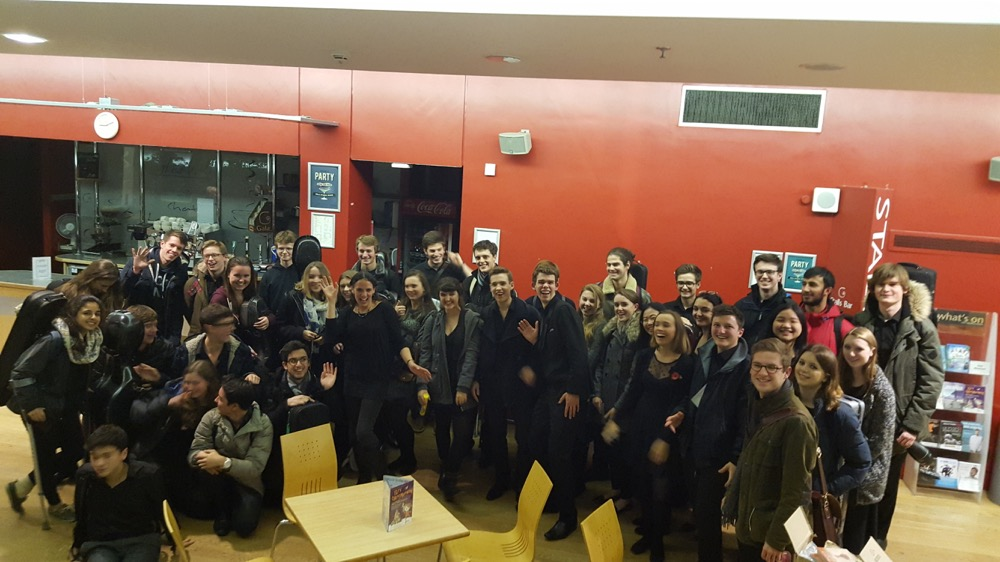 The orchestra after the screening (before their after party)